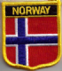 Norway Embroidered Flag Patch, style 07.